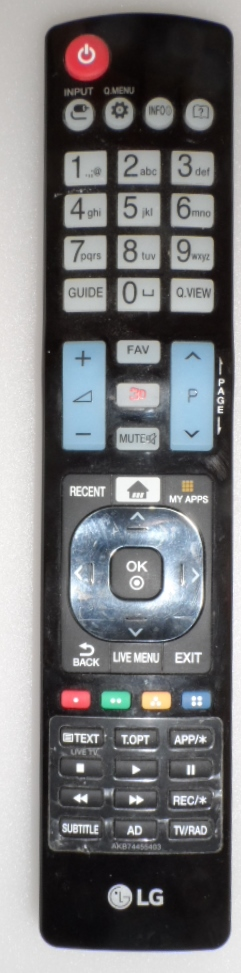 RC/LG/AKB74455403 ORIGINAL REMOTE CONTROL, AKB74455403, for LG LED TV