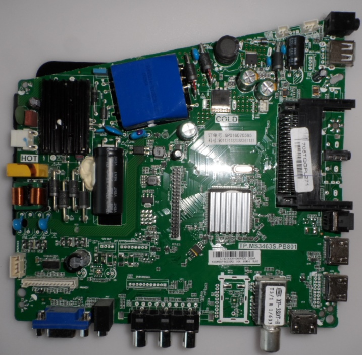 MB/TP.MS3463.PB801/PH32PHT4001 MAIN BOARD, TP.MS3463S.PB801 , for PHILIPS ,32PHT4001/12,32PHS4001/12
