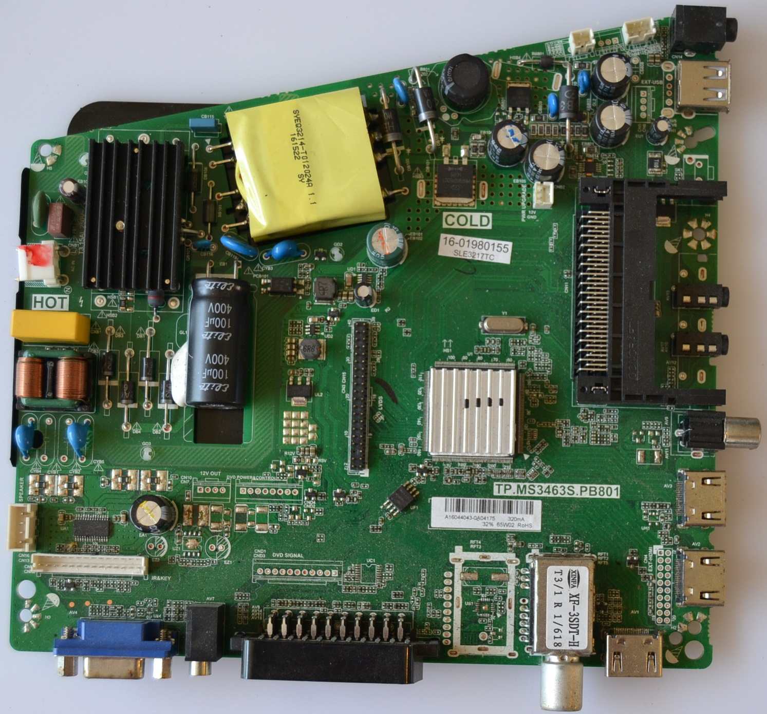 MB/TP.MS3463S.PB801/SENCOR MAIN BOARD ,TP.MS3463S.PB801 , for SENCOR SLE 3217TC,