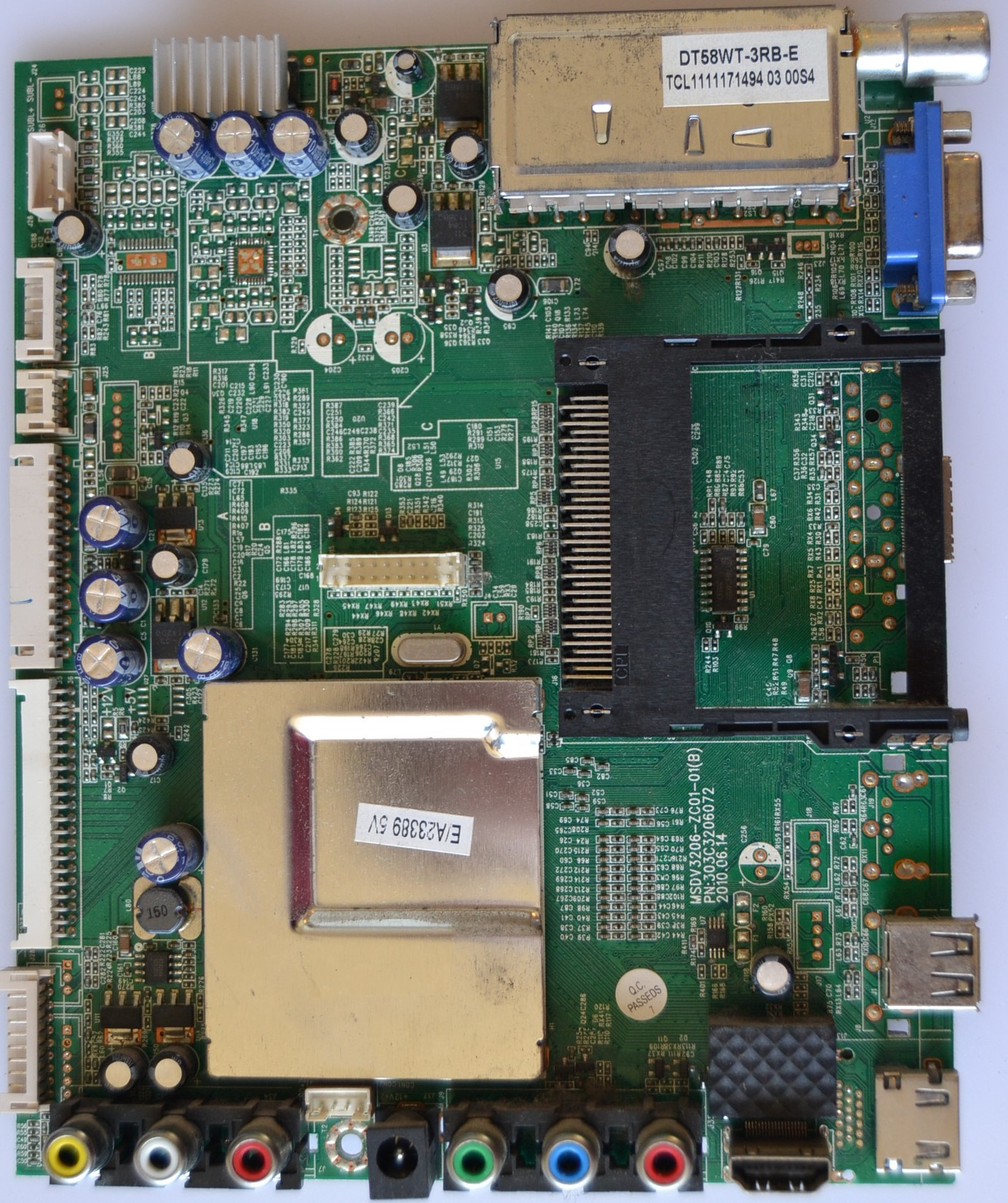 MB/MSDV3206-ZC01-01/HAIER MAIN BOARD ,MSDV3206-ZC01-01,PN:303C3206072, for ,HAIER LET22C430