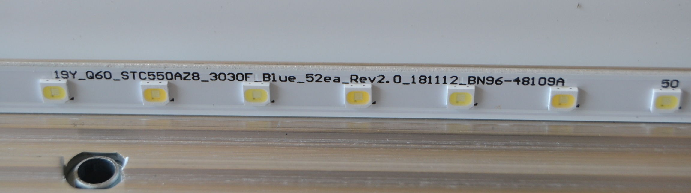 LB/55INC/SAM/QE55Q67 LED BACKLAIHT,19Y_Q60_STC550AZ8_3030F_Blue_52ea_Rev2.0_181112_BN96-48109A,