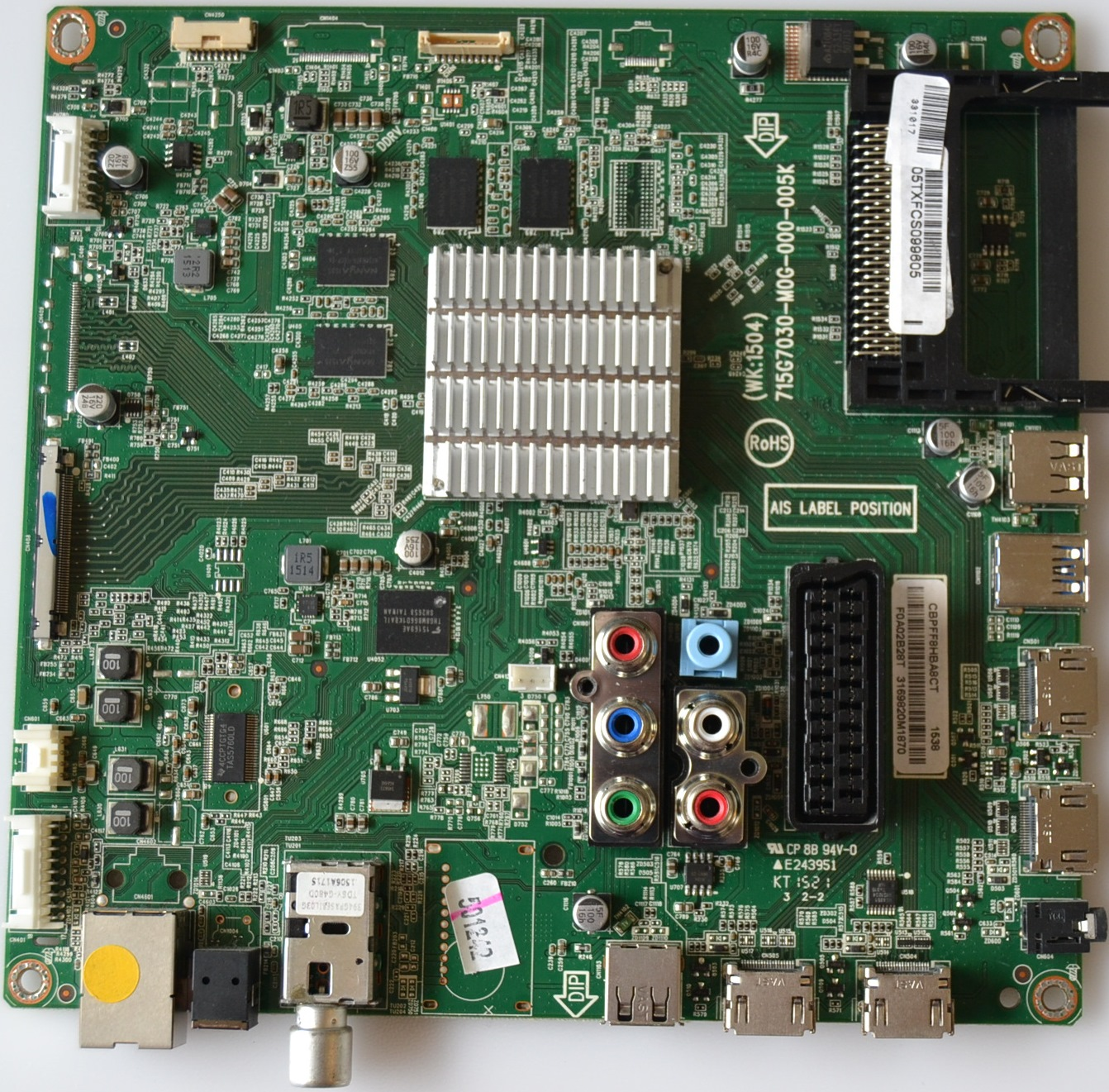 MB/50INC/PH/50PUT6400 MAIN BOARD ,715G7030-M0G-000-005K, for PHILIPS 50PUT6400/12