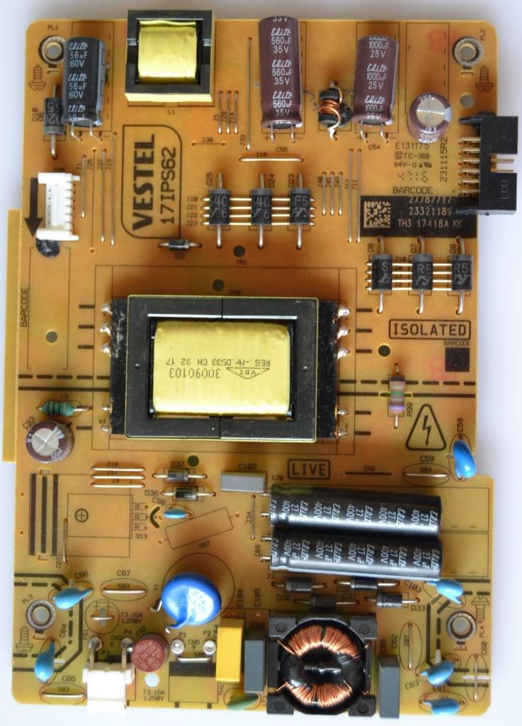 17IPS62/32INC/JVC/17 POWER BOARD ,17IPS62, for 32 inc DISPLAY ,27787717,23321189,231115R2,