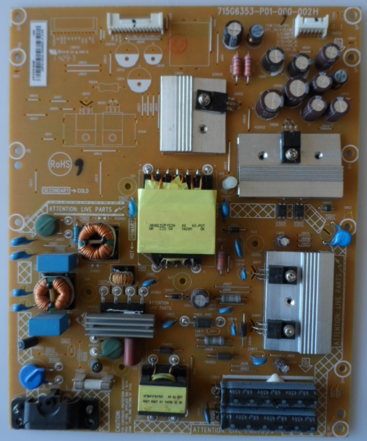 PB/42INC/PH/42PFH6309 POWER BOARD ,715G6353-P01-000-002H, fo,r PHILIPS 42PFH6309/88,