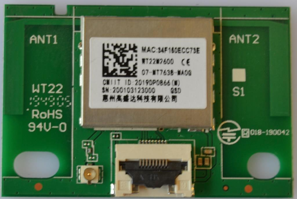 WI-FI/TCL/43EP660 WI-FI MODULE ,WT22W7600,for TCL 43EP660.