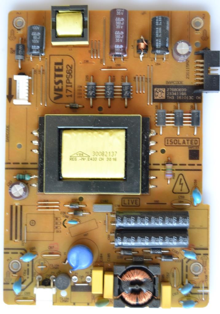 17IPS62/32INC/VES/HIT/2 POWER BOARD ,17IPS62, for 32 inc DISPLAY,27680699,23341166,231115R2,