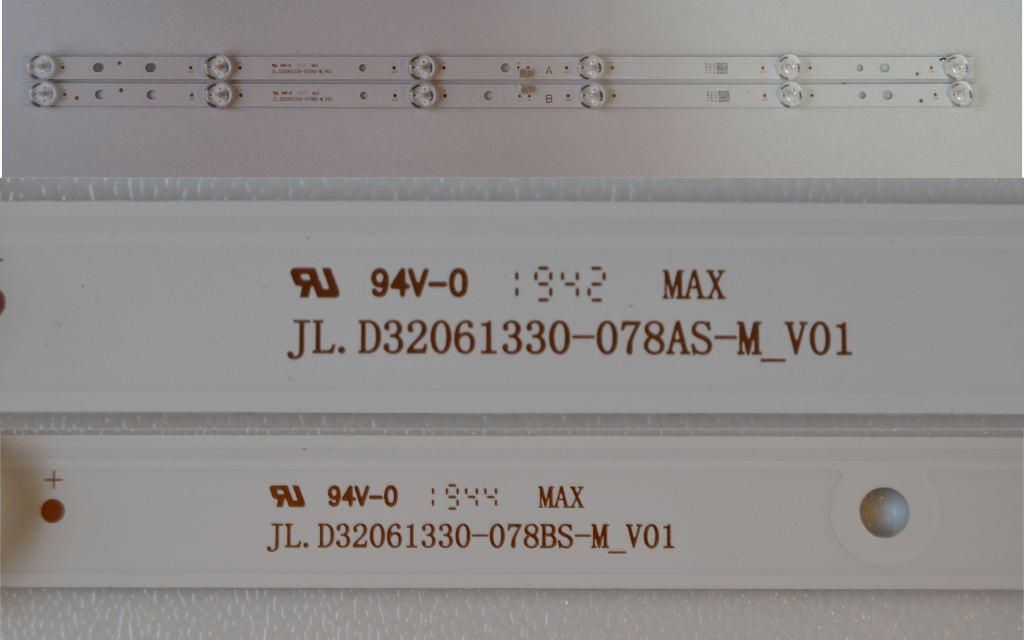 LB/32INC/VES/4 LED BACKLAIHT ,JL.D32061330-078AS-M_V01,JL.D32061330-078BS-M_V01,2x6 diod 550mm,
