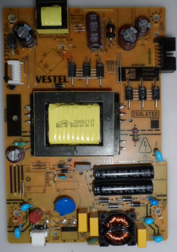 17IPS62/32INC/VES/TOSH POWER BOARD ,17IPS62, for 32 inc DISPLAY, 27938223,23367482,