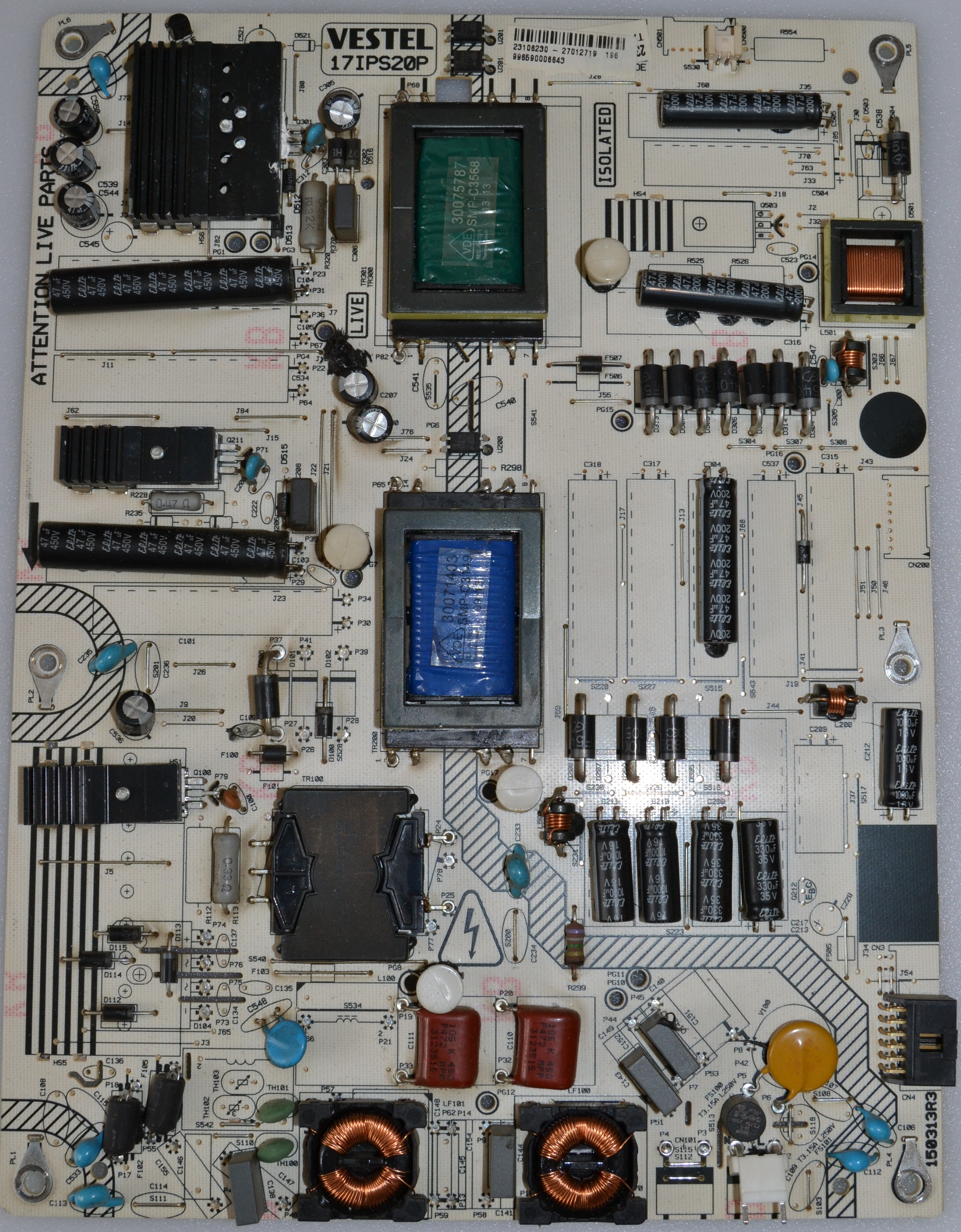 17IPS20/40INC/VES/PH/1 POWER BOARD ,17IPS20P, for 40 inc DISPLAY ,23106230,27012719,996990006643,15031R3,
