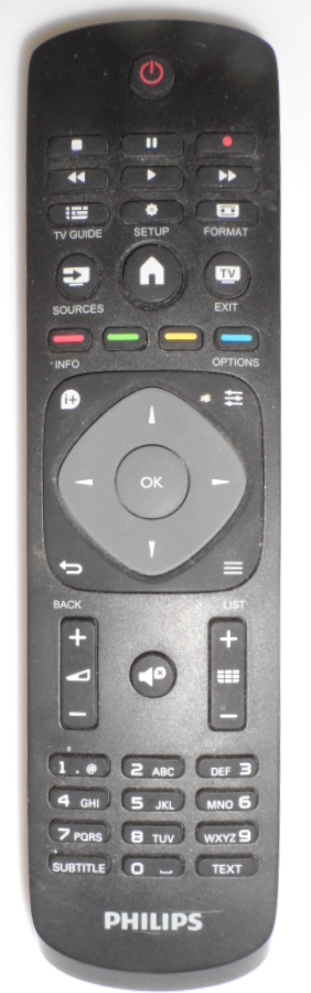 RC/PH/32PFH4100 ORIGINAL  REMOTE CONTROL  for PHILIPS TV ,32PFH4100/88,32PFT4101/12