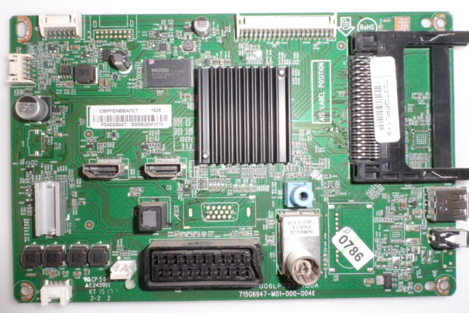 MB/40INC/PH/40PFH4100 MAIN BOARD ,715G6947-M01-000-004K, for, PHILIPS 40PFH4100/88,