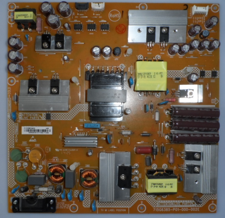 PB/55INC/PH/55PFS7509 POWER BOARD ,715G6385-P01-000-002E ,for, PHILIPS 55PFS7509/12,