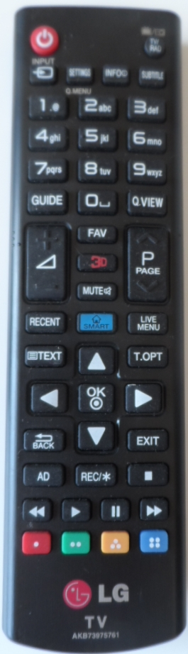 RC/LG/AKB73975761 ORIGINAL REMOTE CONTROL, AKB73975761 , for LG LED TV