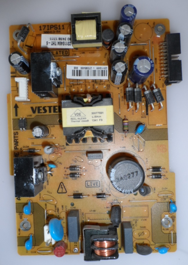 17IPS11/32INC/TOSH/1 POWER BOARD ,17IPS11 ,300413-R4,23110481,271195466,