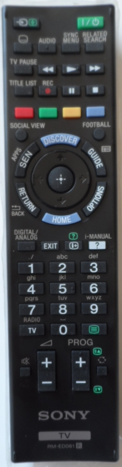 RC/SONY/RM-ED061 ORIGINAL REMOTE CONTROL, RM-ED061 , for SONY LED TV