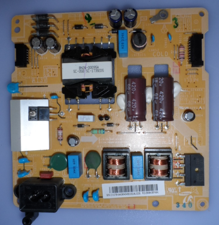 PB/BN94-09545A/SAM/T32E310 POWER BOARD ,BN94-09545A,BN41-02446A,  for SAMSUNG T32E310EX