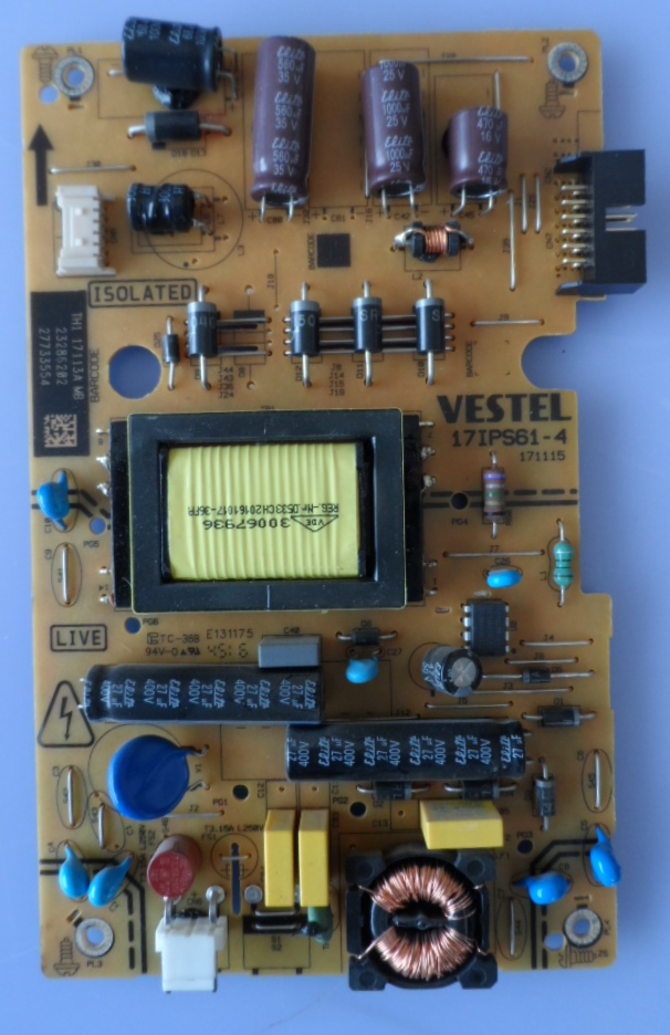 17IPS61-4/28INC/VES/FINLUX POWER BOARD ,17IPS61-4,171115,for 28 inc DISPLAY,23286202,27733554,