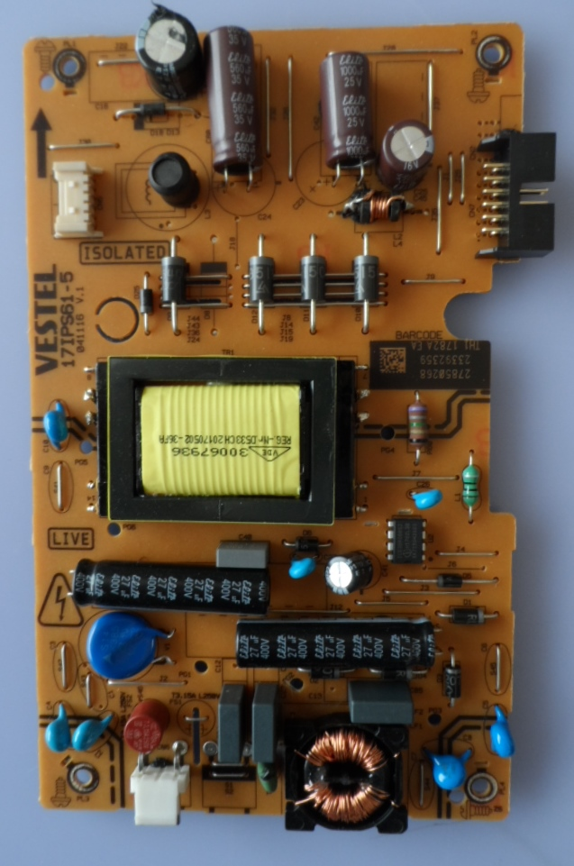17IPS61-5/24INC/VES/OK POWER BOARD ,17IPS61-5,041116, V.1,27850268,23392359,
