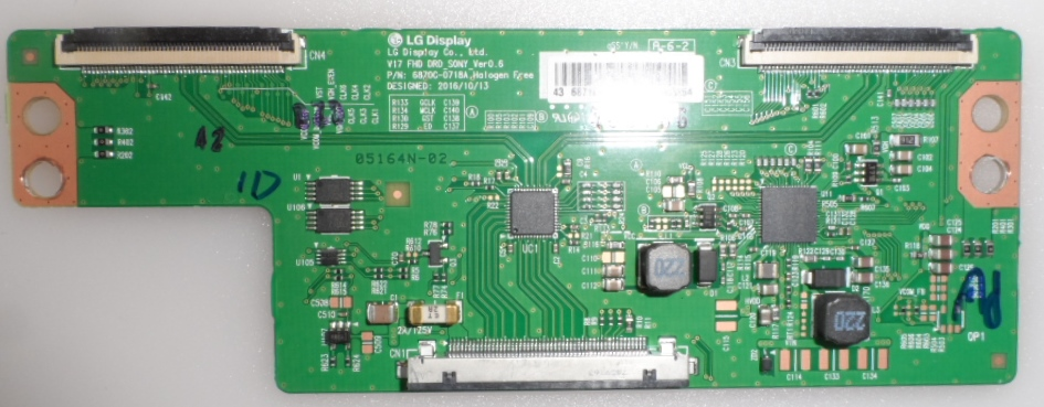TCON/6870C0718A/CELLO/43INC TCon BOARD, 6870C-0718A, V17 FHD DRD_SONY_Ver0.6,