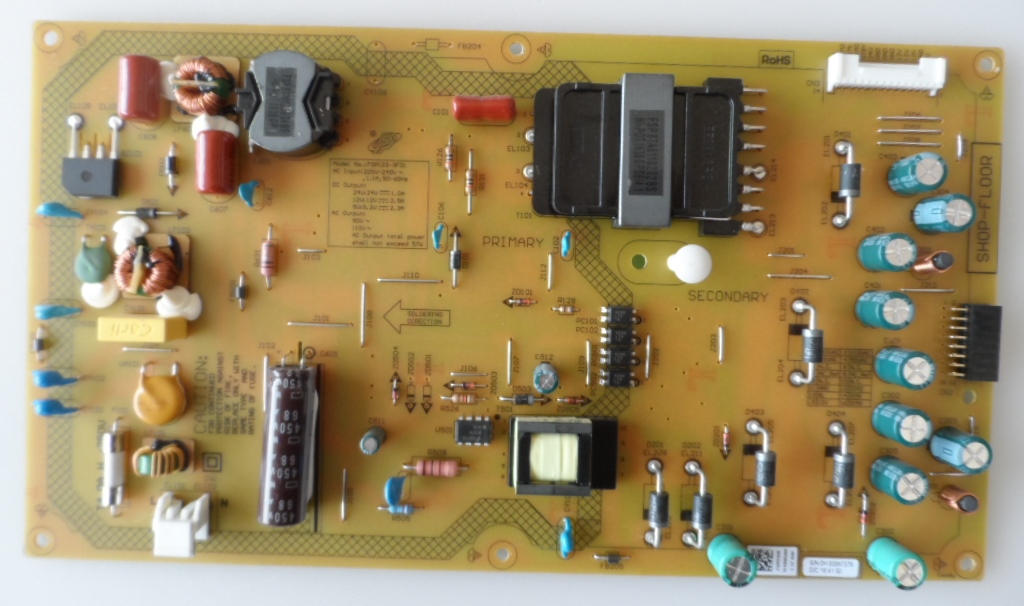 PB/43INC/GRUNDIG POWER BOARD ,FSP123-3F01,ZQR910R,for,GRUNDIG 43GFB6627,