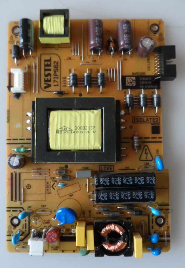 17IPS62/32INC/CROWN/32291 POWER BOARD ,17IPS62, for 32 inc DISPLAY ,27898279,23341166,TH2 17107A DG,