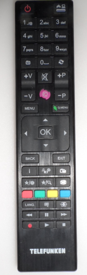 RC/4876/TFK/VES  REMOTE CONTROL ,RC4876, for ,TELEFUNKEN